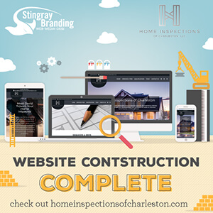 home inspections of charleston, stingray branding, new website, website design, branding