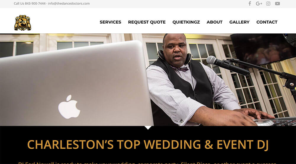 marketing company, charleston, jacksonville, charlotte, small business marketing, dance doctors, website, marketing, web design, social media, graphic design, branding