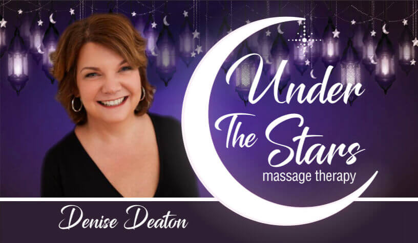 Under The Stars Massage Business Card