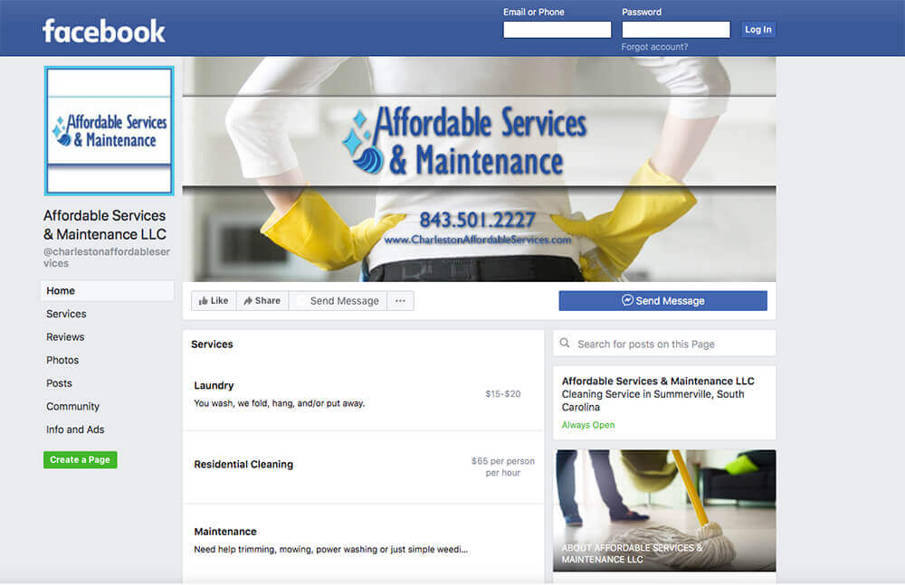 Affordable Services & Maintenance