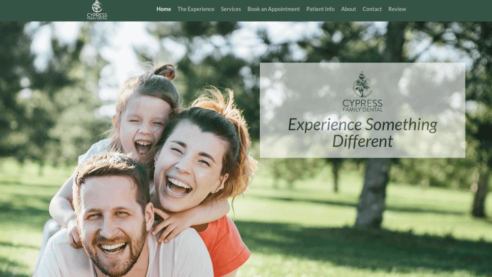 New Website and Social Media : Cypress Family Dental