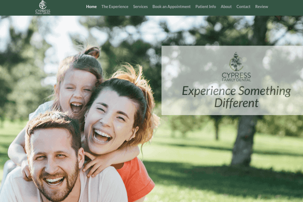 New Website and Social Media : Cypress Family Dental