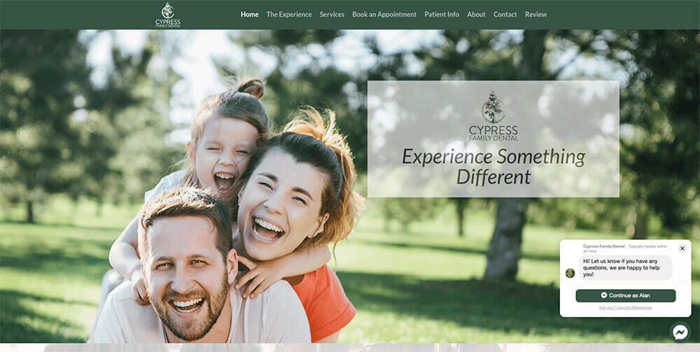 Cypress Family Dental, web design, charleston marketing, stingray branding