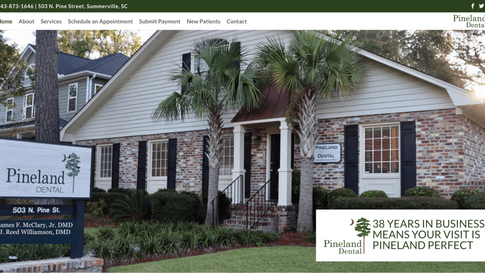 Pineland Dental Home Page