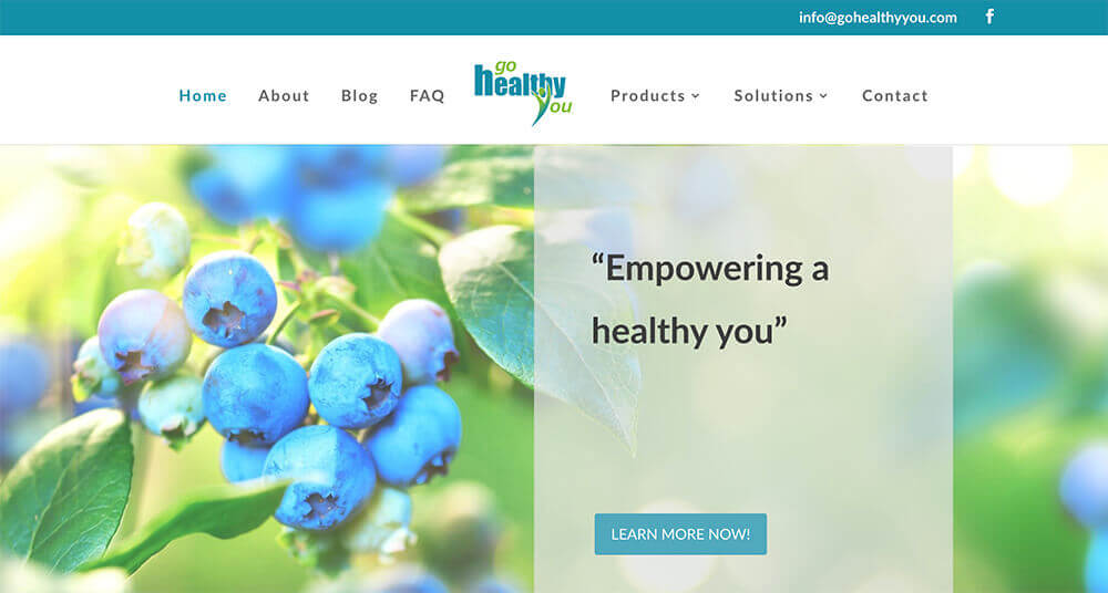 Go Healthy You, website design, Stingray Branding